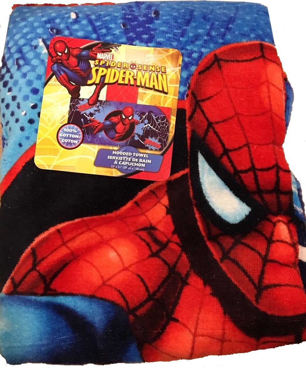 Marvel Spiderman Hooded Towel For Bath, Pool, or Beach