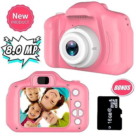 Regalos para 3-8 Años de Edad Chicas Joy-Fun Cámara Fotos Digital 8.0 MP Camara de Fotos para Niños Vídeo Grabar Electrónico Juguete Regalos de ...