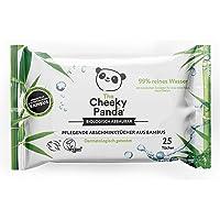 The Cheeky Panda Make-up doekjes van bamboe, ongeparfumeerd, 25 vochtige doekjes per verpakking, biologisch afbreekbaar…
