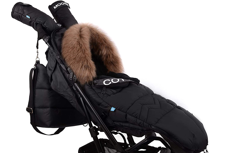 Fußsack Schlafsack Footmuff Winterfußsack Cottonmoose Moose North Kinderwagensack Schlittensack 100 X 50 Cm North Moose 873 Black Baby