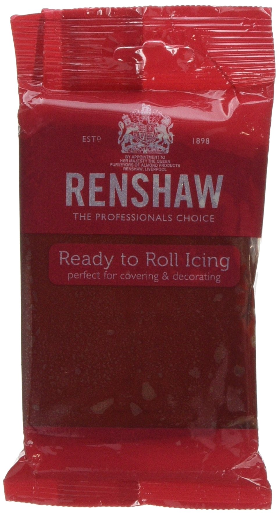 Renshaw Ruby Red Ready to Roll Fondant Icing Sugarpaste - 250g