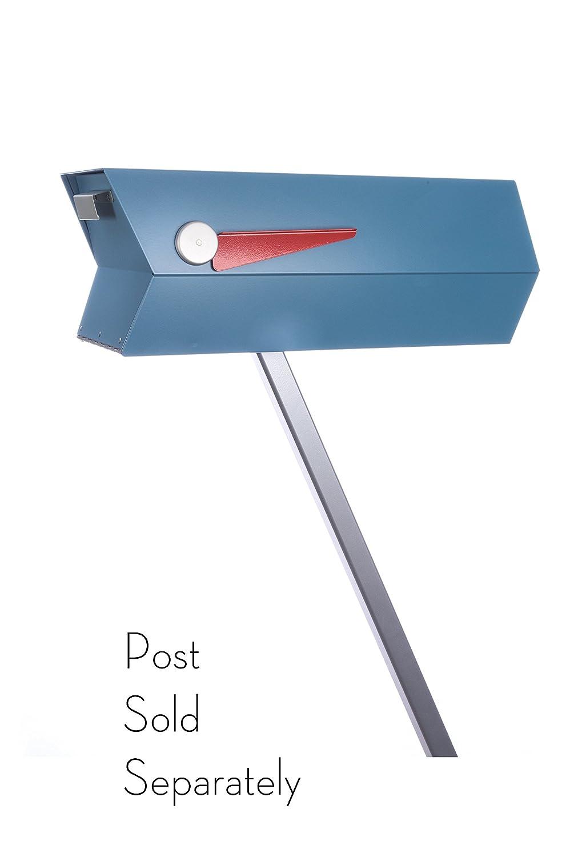 Mid century modern mailbox one color black amazon com