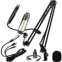 Microfono Profesional Cardioide Condensador Unidireccional De Alta Sensibilidad Con Eco- Steelpro MC-15BGK