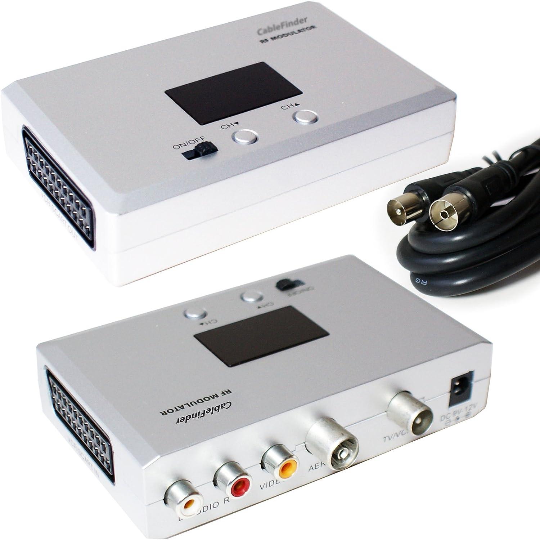 Euroconector a Modulador RF para antena de TV Conversor ...