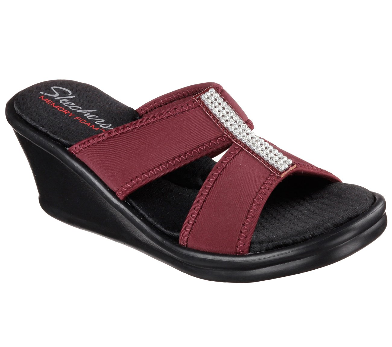 Skechers Women's Rumblers 2 Strap Slide Wedge Sandal