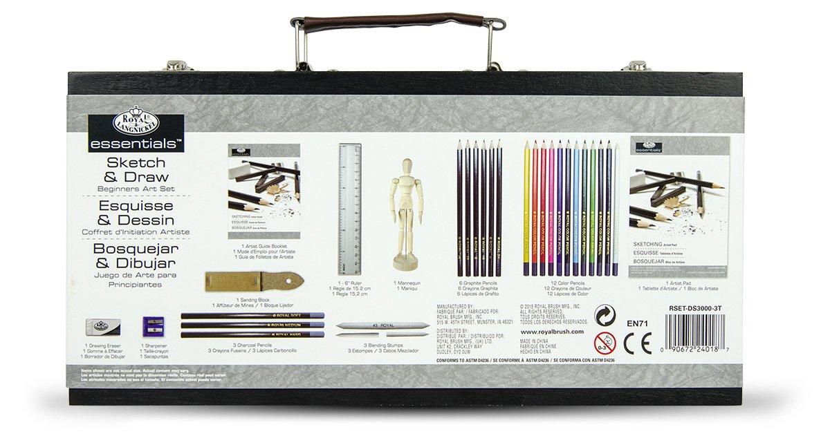 Set per schizzo e disegno per principianti Royal /& Langnickel