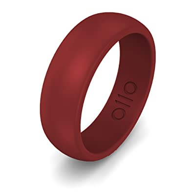 Amazoncom OLLOBAND Mens Silicone Ring Safe Wedding Band Yoga