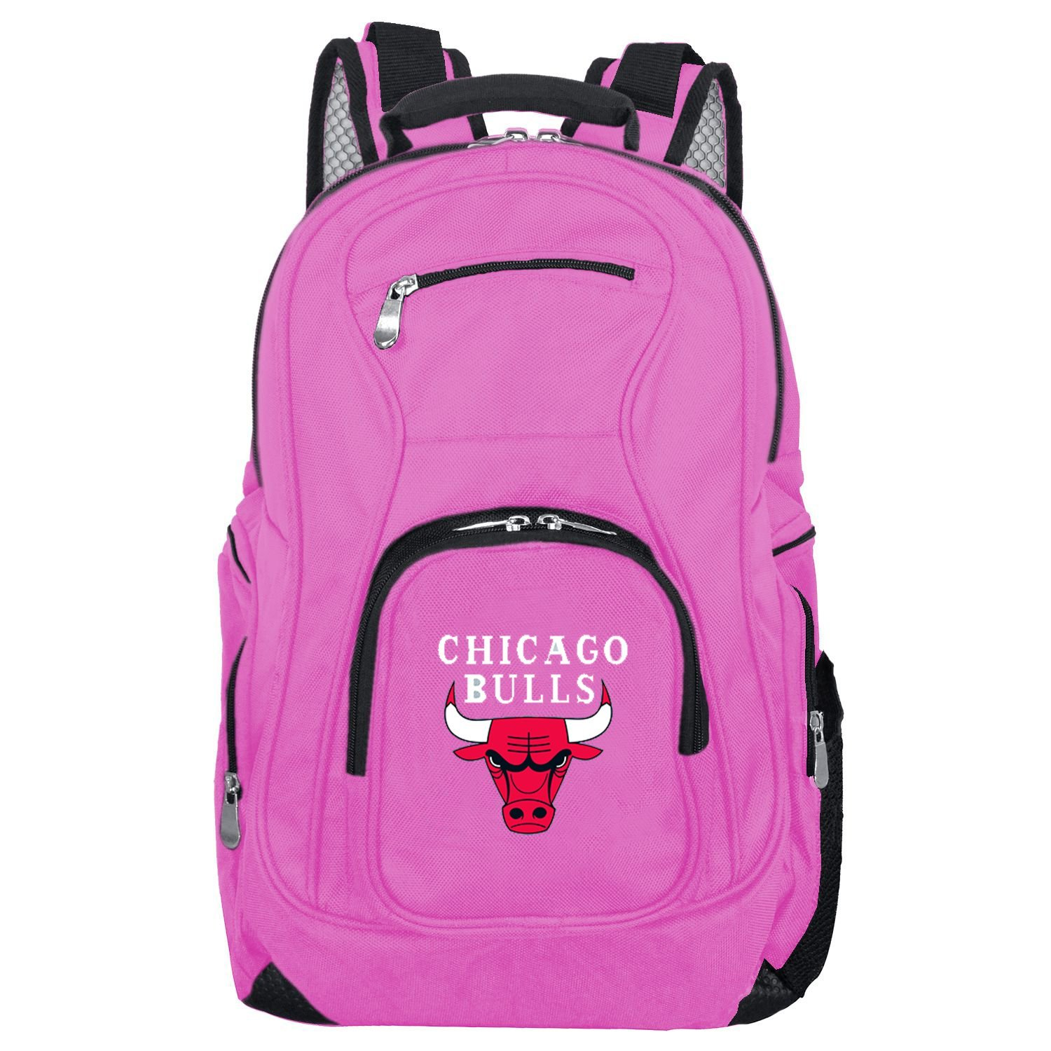 NBA Chicago Bulls Voyager Laptop Backpack, 19-inches, Pink