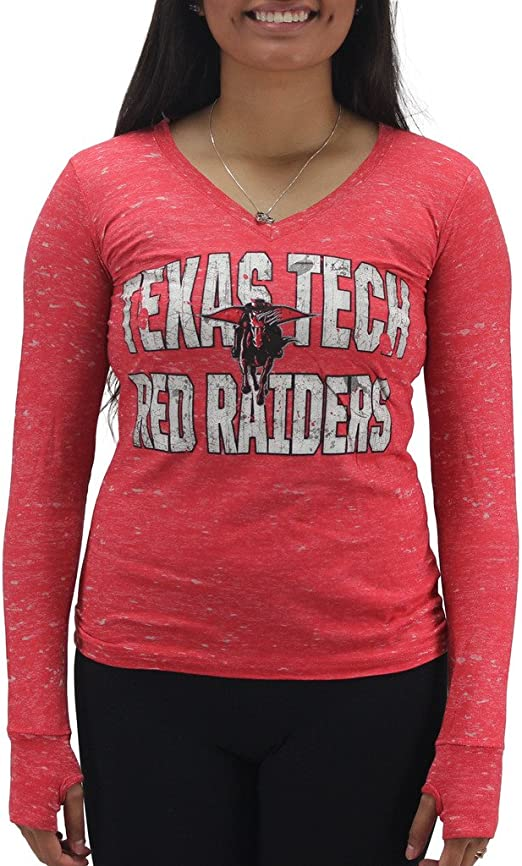 Pressbox Women/' s Kansas Jayhawks Red Pocket T-Shirt