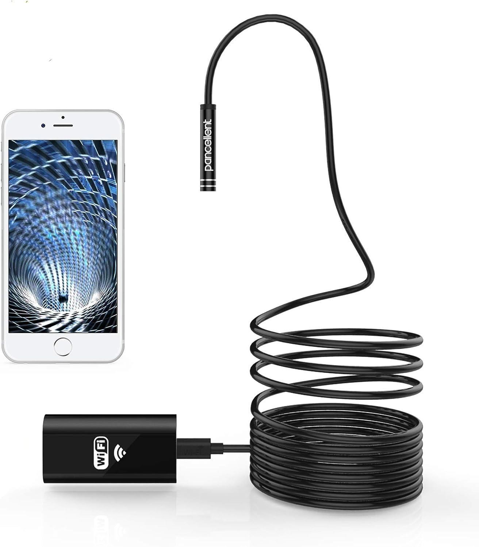 Pancellent Drahtlose Inspektionskamera Wifi Endoskop 2 0 Megapixel Hd Borescope Starre Schlangenkabel 5 Meter Für Ios Iphone Android Samsung Smartphone Aktualisiertes Wifi Level Auto