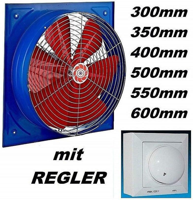 Absaugung Axiall/üfter Ventilator Wand Fenster L/üfter Gebl/äse /ø160mm 450m/³//h inklusive Drehzahlregler