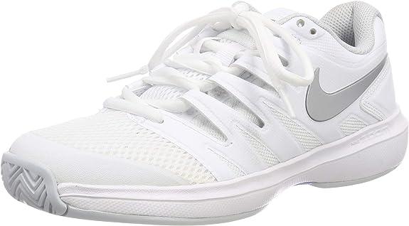 Nike Women's Air Zoom Prestige Tennis Shoes (7 B US, White/Metallic Silver/Pure Platinum)