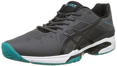 ASICS Men s Gel-Solution Speed 3 Dark Grey Black Lapis Tennis Shoes ... d9a254ba31907