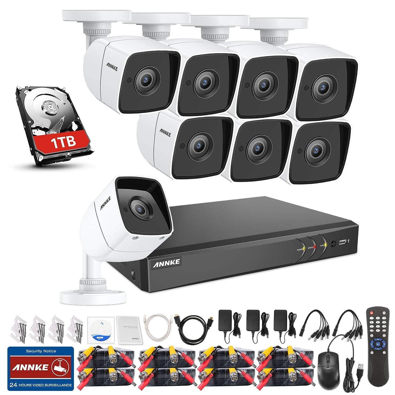 ANNKE 5MP Sistema de videovigilancia 8 Canales 4K DVR H.265+ ...