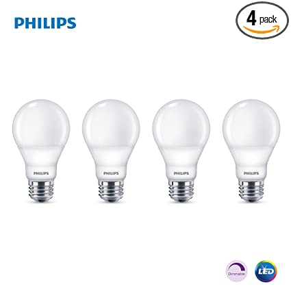 Amazon.com: Philips LED Dimmable A19, Transparente, 479576 ...