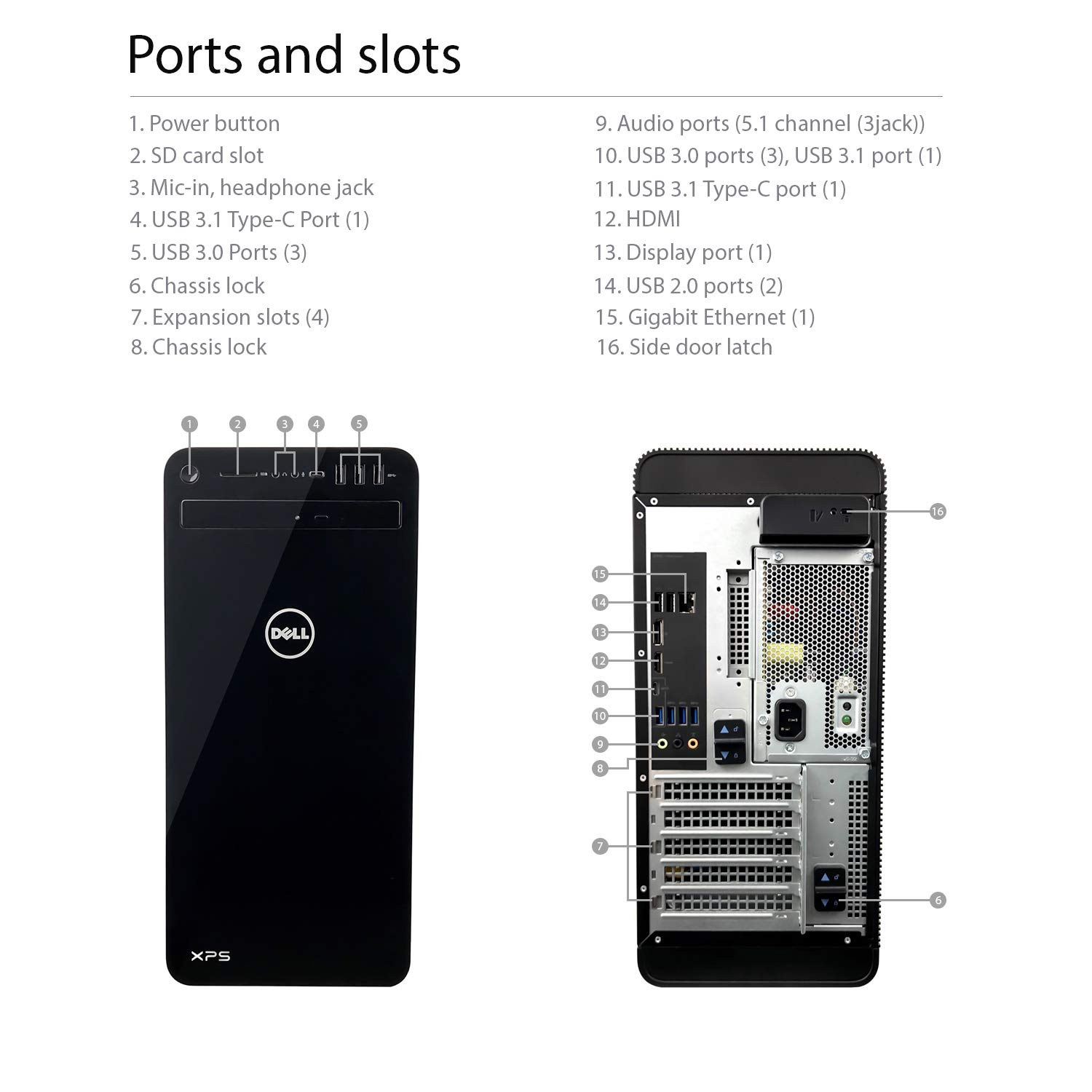 Dell Xps 8930 Tower Desktop 8th Gen Intel Core I7 Protection Circuit Board 2 1channel Speaker Neweggcom 8700 6 Up To 460 Ghz 16gb Ddr4 Memory 2tb Sata Hard Drive 4gb Nvidia Geforce Gtx