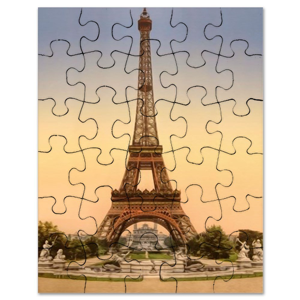 CafePress - Eiffel Tower, Paris France - Jigsaw Puzzle, 30 pcs.