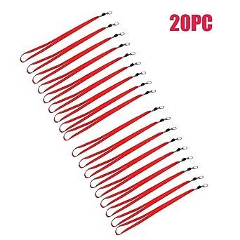 Ardisle - 20 x rojo correa para el cuello Cordón Seguridad para ...
