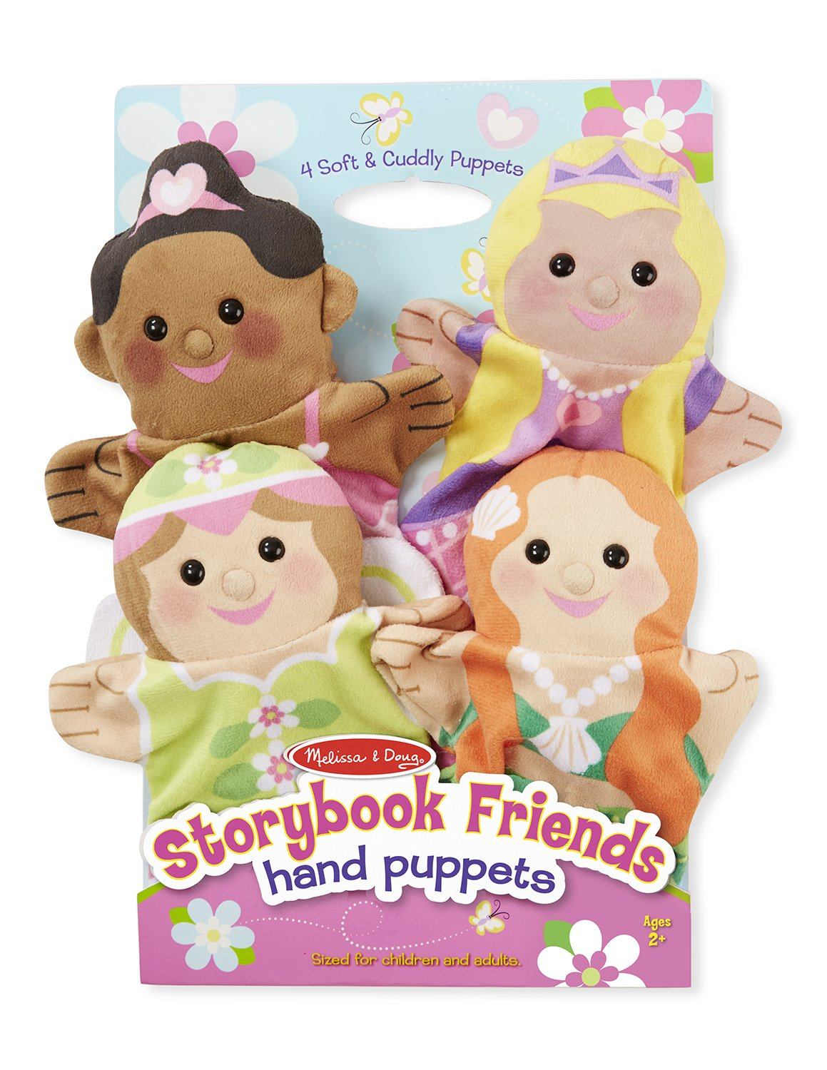 Melissa & Doug Storybook Friends Hand Puppets (Set of 4) - Princess, Fairy, Mermaid, and Ballerina