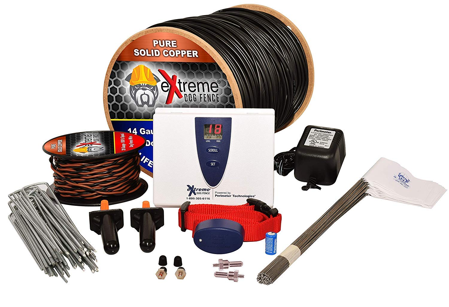 Underground Electric Dog Fence Ultimate - Extreme Pro Dog Fence System for Easy Setup and Maximum Longevity and Continued Reliable Pet Safety - 1 Dog | 1000 Feet Pro Grade Dog Fence Wire by Extreme Dog Fence (Image #1)