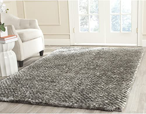Safavieh Saint Tropez Collection STS641S Hand Woven Silver Polyester Area Rug 9 x 12