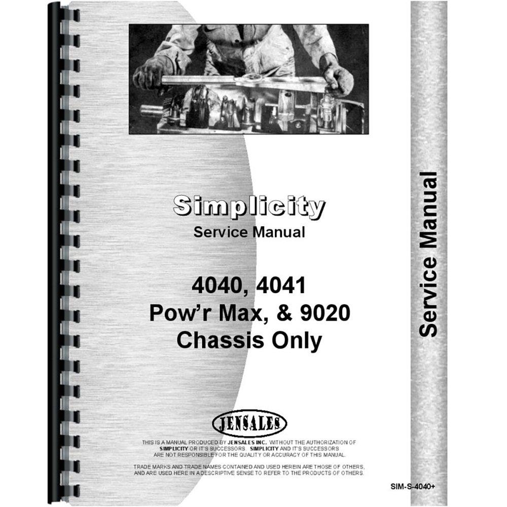 Simplicity 4041 Lawn Garden Service Manual Industrial John Deere 4040 Ignition Wiring Diagram Scientific