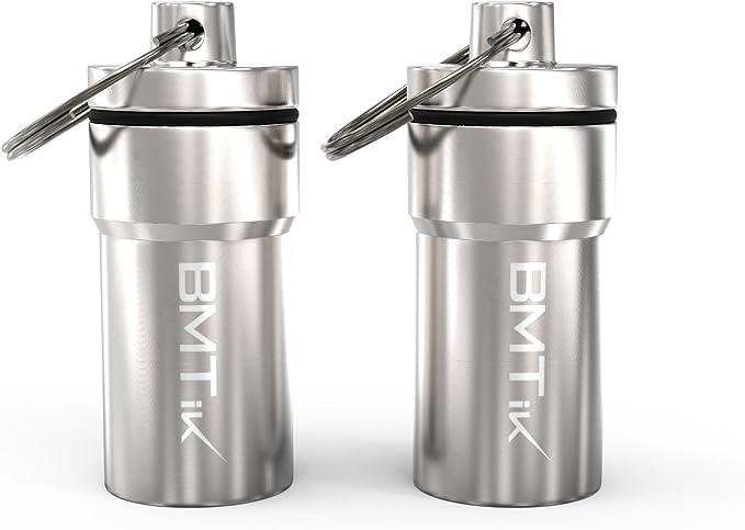3/pezzi BMTick Capsule in metallo per erbe impermeabili e antiodore