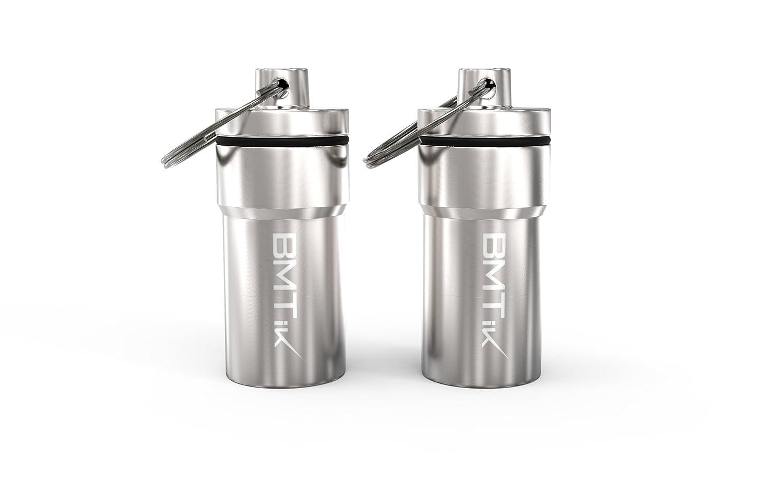 BMTick Diskrete Weed/Herb Kapsel Pillenbox Jar Stash Box (groß e Grö ß e) (Echtes geruchsfeste und Wasserdichten) 2 Pack!
