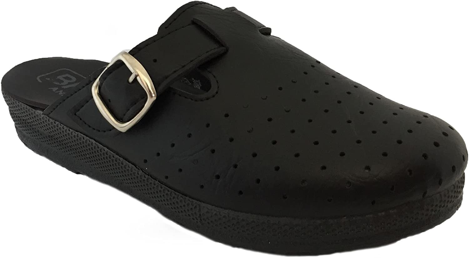Womens Mule Clogs Slippers Shoes, Black