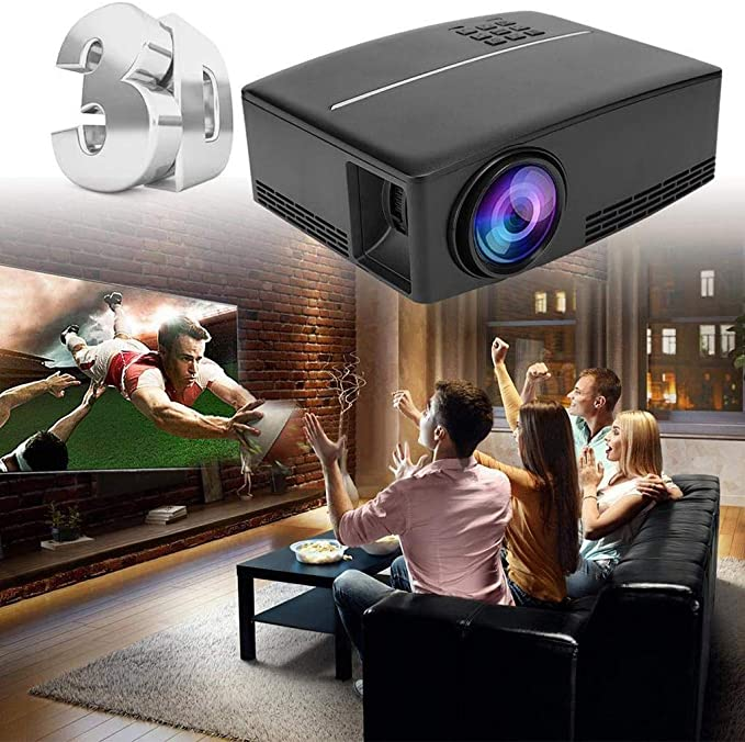 ZZNNN Mini proyector, portátil Proyector de película, 30.000 Horas de duración LED y Compatible con TV Stick, for Home Entertainment: Amazon.es: Electrónica