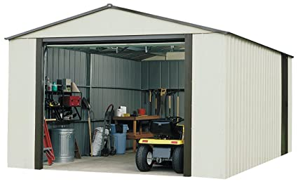 Arrow VT1421 Vinyl Coated Murryhill 14-Feet by 21-Feet Heavy Duty Steel Storage  sc 1 st  Amazon.com : storage sheds vinyl  - Aquiesqueretaro.Com