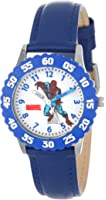 Marvel Boys' Spider-Man Blue Time Teacher Watch