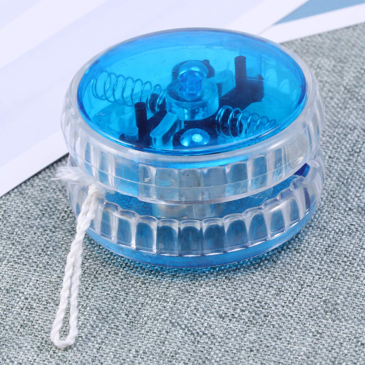 Blue NUOBESTY 2 PCS YOYO LED Flashing Playing Toy with String Gift for Toddler Kids Child