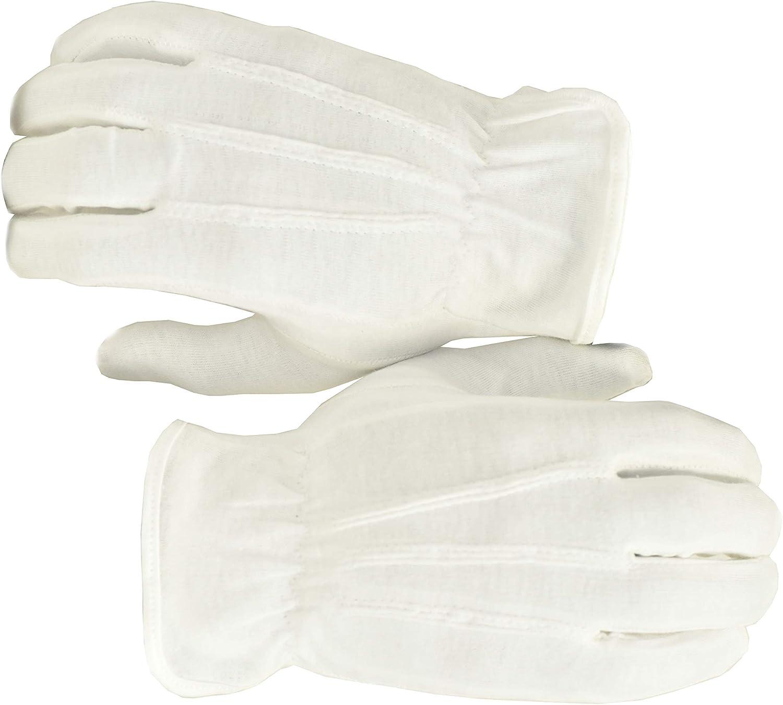 100/% Cotton White Orange Order Parade March Band Gloves
