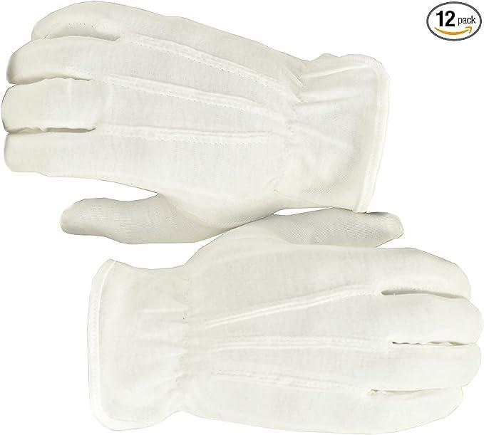 Men/'s White Tuxedo Parade Santa Magic Band inspection Guard Uniform Tux gloves