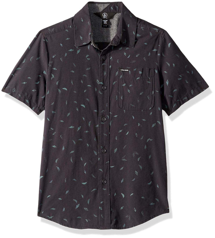 Volcom Big Boys Quency Dot Short Sleeve Button Up Shirt
