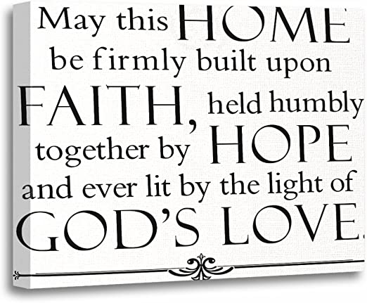 com torass canvas wall art print quotes family blessing
