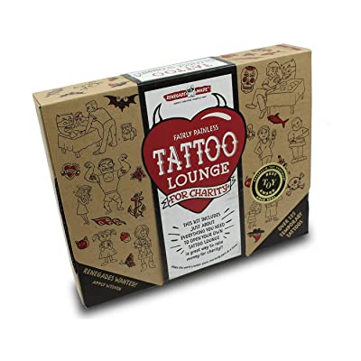 Renegade Made | Tattoo Lounge KIT | Promote Kindness and Raise Money for Your Favorite Cause by Applying Fun, Non-Toxic Temporary Tattoos for Kids. The Ultimate DIY Craft for Promoting Kindness!: Toys & Games