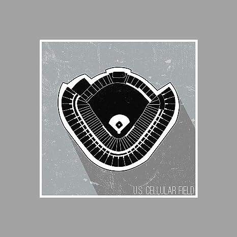 Amazon.com: ArtsyCanvas US Cellular Field Seating Map - Baseball ...