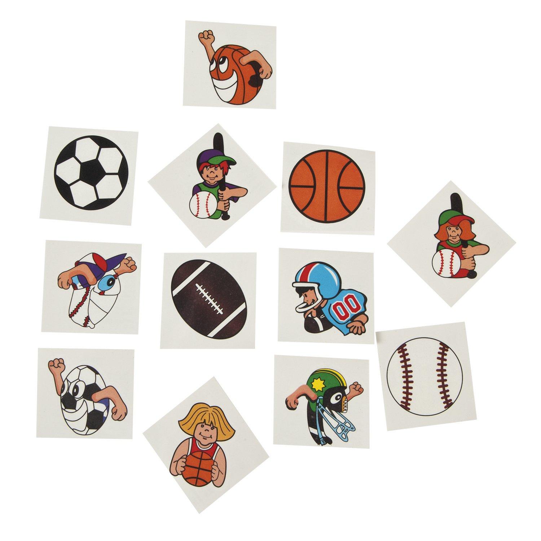 Amazon.com: Sports Tattoos (6 dz): Toys & Games