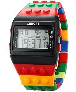 Shhors Rubber Digital Stopwatch Men's Ladies Sport Watch LED092