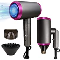 1800W Professional Hair Dryer Foldable Ionic Blow Dryers with Diffuser Conditioning Fast Hairdryer Hair Care Dryer Ion…