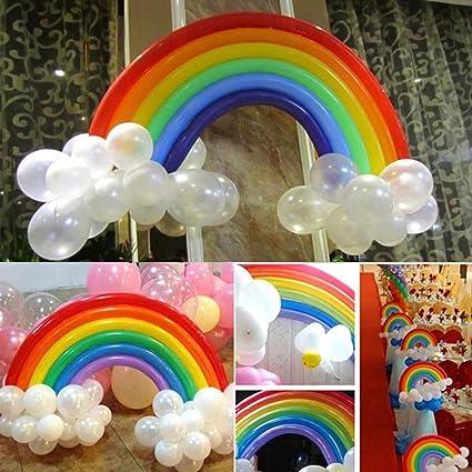 Amazon Taiguang 25Pcs DIY Rainbow Magic Latex Long Balloon