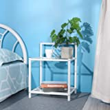 GreenForest Bedside Table Set of 2 Nightstand 2