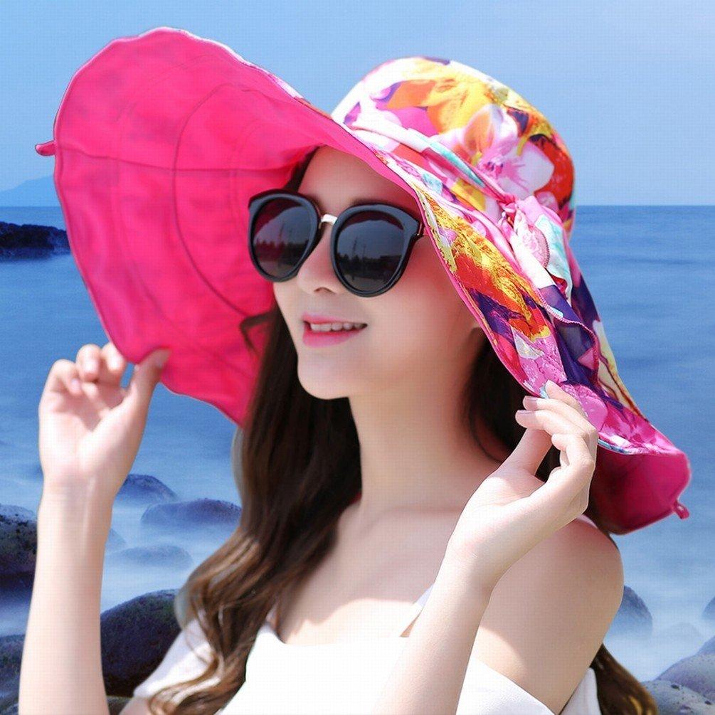 WCZ Sombrero Sombrilla de de Sombrilla Playa Vacaciones de Playa Vacaciones Anti-Ultravioleta Sombrero de Sol Sombrero de Playa Grande a Lo Largo de Los Aleros Grandes Protección Solar,UN 5f9031
