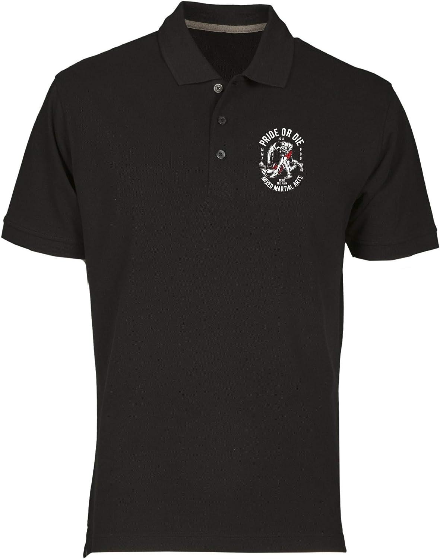 T-Shirtshock Polo por Hombre Negro EPS1009 Pride OR Die