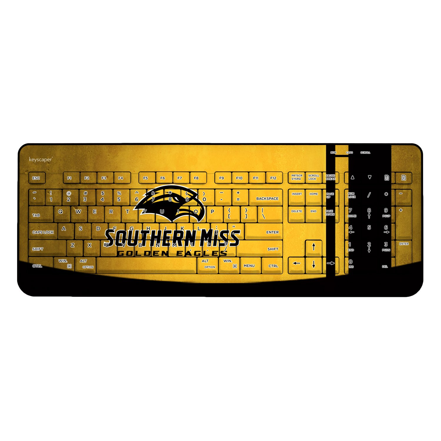 Southern Mississippi Golden Eagles Wired USB Keyboard NCAA by Keyscaper