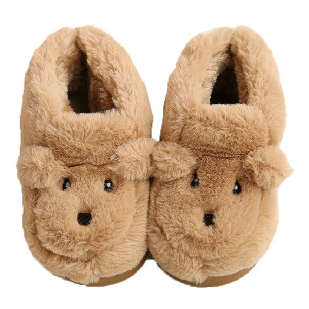 CYBLING Cute Toddler Little Girls Boys Slippers for Kids Comfort Winter Warm Slip On House Bed Shoes