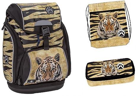 Grande Gato Tiger Set de accesorios escolares Mochila Escolar ergonómica schultasche