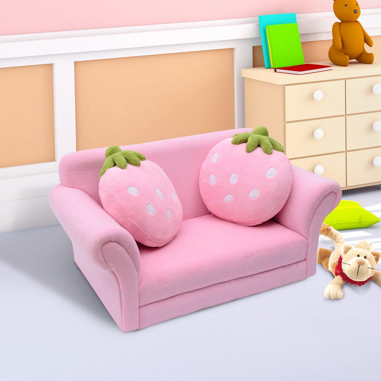 Erdbeersofa HOMCOM Kindersofa Kindersessel Sofa Couch Kinder Stuhl Kinderzimmer Softsofa Doppelsofa Einzelsofa Neu